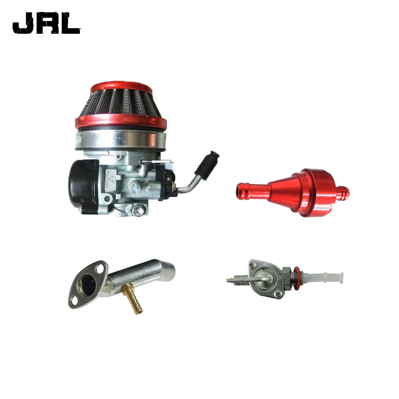 JrLキャブレター&レッドエアフィルタ&吸気マニホールドの66 cc 80 ccエンジン電動自転車 B076J3XXGB