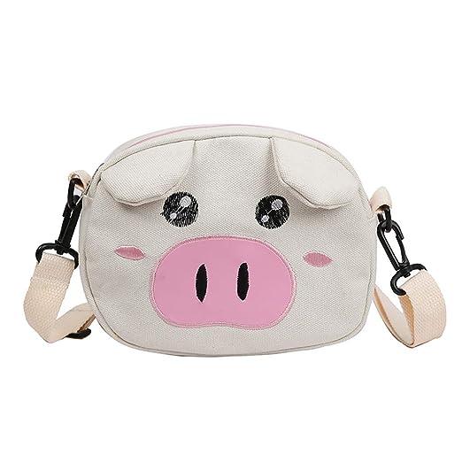 Amazon.com: Cute Pig Canvas Bag For Women Durable Single ...