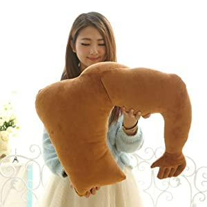 Muscle Man Hug Body Arm Support Plush Cotton Body Pillow Stuffed Plush Soft Toys Doll Car Sofa Chair Seat Throw Cushion Valentine's Day...