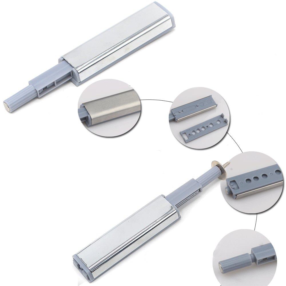 Reelva, 10 chiusure con sistema di apertura a spinta, per ante di armadi e cassetti, con cerniere robuste