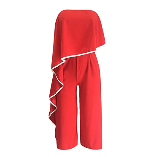 enjoy big discount search for official enjoy complimentary shipping Amazon.com: TOGIC Unique Womens Off Shoulder Jumpsuit ...
