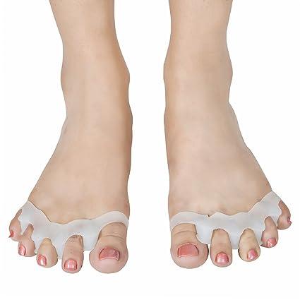 Silicona 5-Toe espaciador | Gel separador de dedos juanetes guard| alivio del dolor