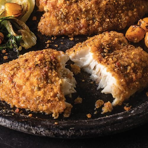 Omaha Steaks 1 (2.5 lbs. pkg.) Tortilla-Crusted Tilapia Fillets (Fish Dinner)