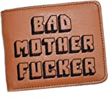 GOMYIE Embroidered Bad Mother Fucker PU Leather Purse/Wallet from Daughter or Son