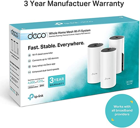 Tp Link Deco M4 3 Pack 867 Mbit S Tabletop Router White Computers Accessories