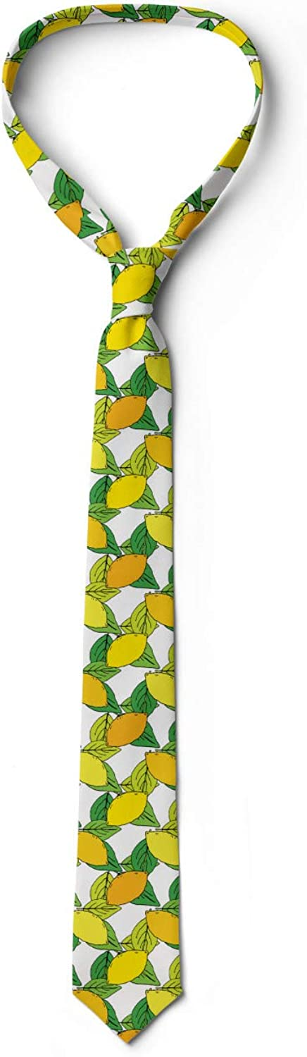 Yellow Earth Yellow 3.7 Vitamin C Citrus Drawing Ambesonne Mens Tie