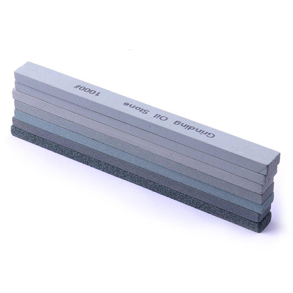 color azul Juego de piedras de afilar de 7 piezas 80#-1000#