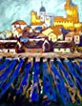Chapel On A Hill Acrylic Painting 24 x 30 On Professional Watercolor Paper