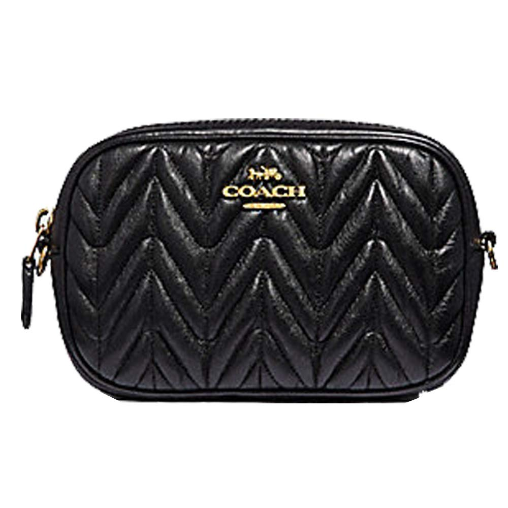 af4dfe62c7 COACH CONVERTIBLE BELT BAG WITH QUILTING BLACK