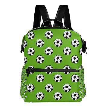 TIZORAX - Mochila de fútbol para Escuela, Color Verde: Amazon.es: Deportes y aire libre