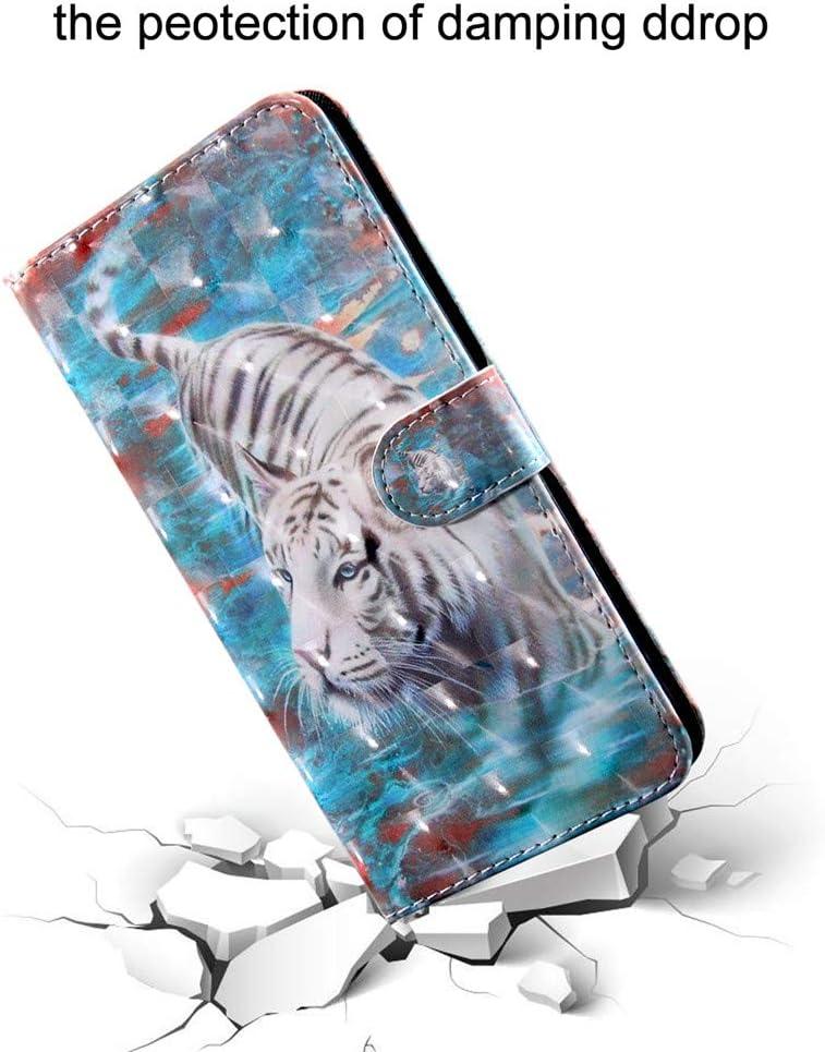 COTDINFOR per Samsung Galaxy A20S Custodia Effetto 3D Verniciato di Alta qualit/à in Pelle PU Vibrazione Copertura di Magnetico Protezione Custodia per Samsung Galaxy A20S Smiley Cat BX.