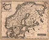 School Atlas | 1822 Sweden and Norway | Historic Antique Vintage Map Reprint