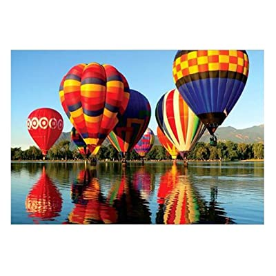 Jigsaw Puzzles 1000 Pieces for Adults,Iusun Hot Air Balloon Puzzles,Entertainment DIY Toys for Wall Hanging Decor,29.53 x 19.69inch: Toys & Games