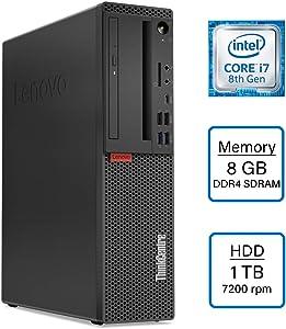 VCI Lenovo ThinkCentre M720 M720s Intel Core i7-8700 (6-core) 3.2 GHz up to 4.6 GHz, 8GB RAM, 1TB HDD, DVD-Writer, Windows 10 Pro