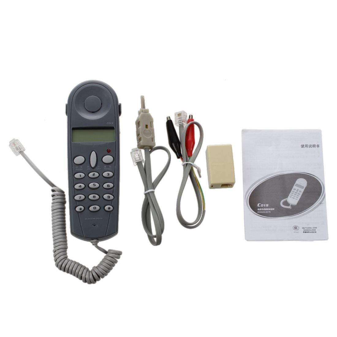 SODIAL(R) Conjunto de cable herramienta de prueba probador de atraque de instalador de