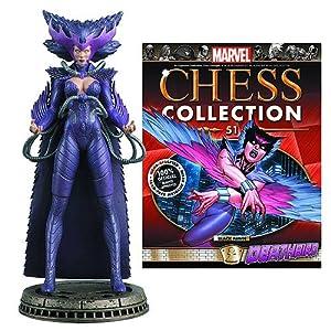 Marvel Deathbird Black Pawn Chess Piece with Collector Magazine