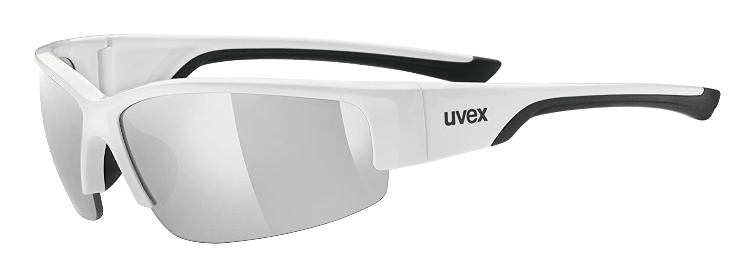 fc17218f33 Amazon.com  Uvex Sportstyle 215 White black Ltm Silver  Sports   Outdoors