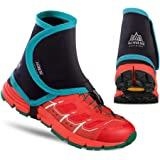 MIC ゲイター 登山スパッツ シューズカバー アウトドア靴カバー 砂カバー 通気 滑り止め 男女兼用 クライミング/トレッキング/ランニング 左右セット