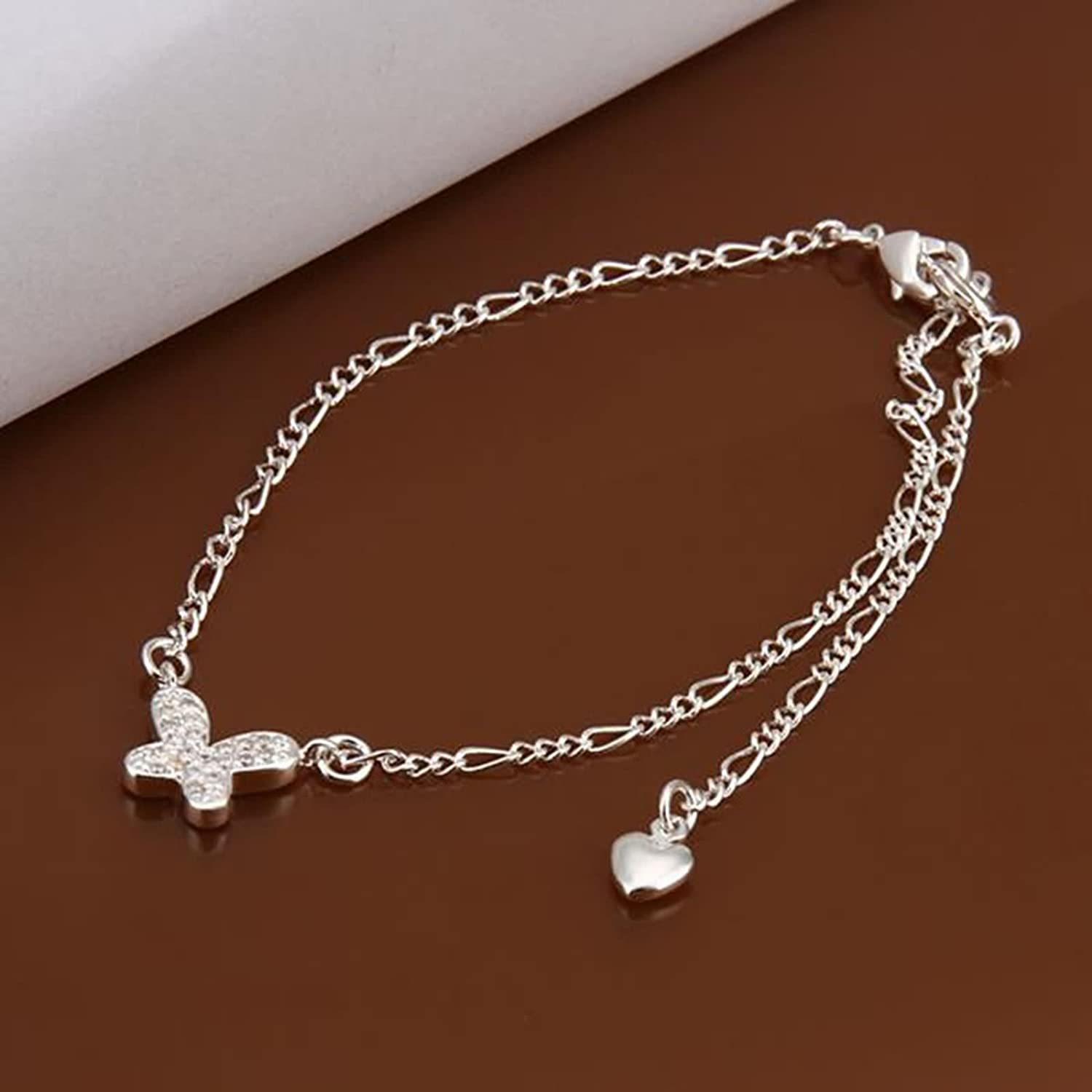 Bishilin Anklet Bracelet With Charms Butterfly anklet extender 1.4 CM