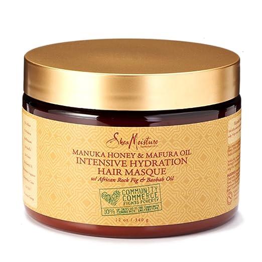 SheaMoisture Manuka Honey & Mafura Oil Intensive Hydration Masque, 12 Ounce