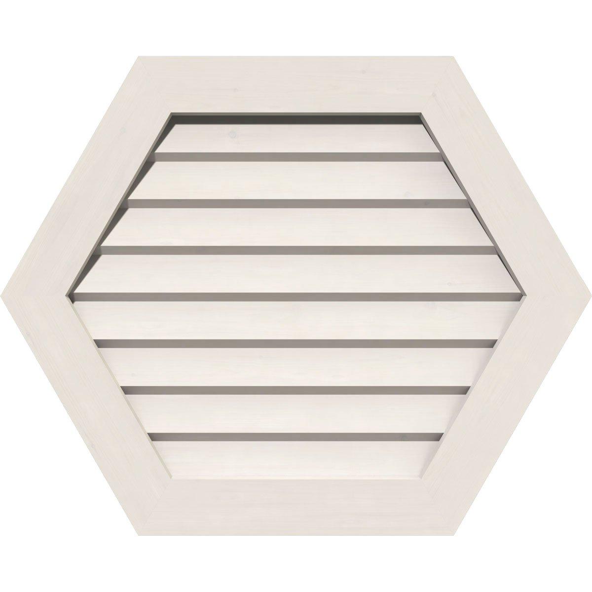 Ekena Millwork GVPHP18X1201DUN Pvc Gable Vent, 18'' W x 12'' H (23'' W x 17'' H Frame Size), White