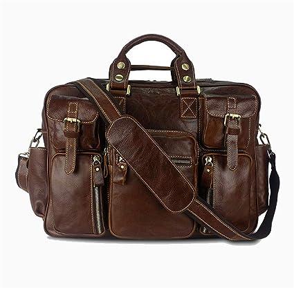 b778b40957e2 Amazon.com: Ybriefbag Unisex Leather Man Bag Large Capacity Travel ...