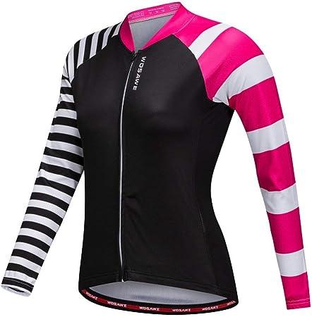 Backbayia Mujer Camisa Ropa De Ciclismo Jersey Manga Larga ...