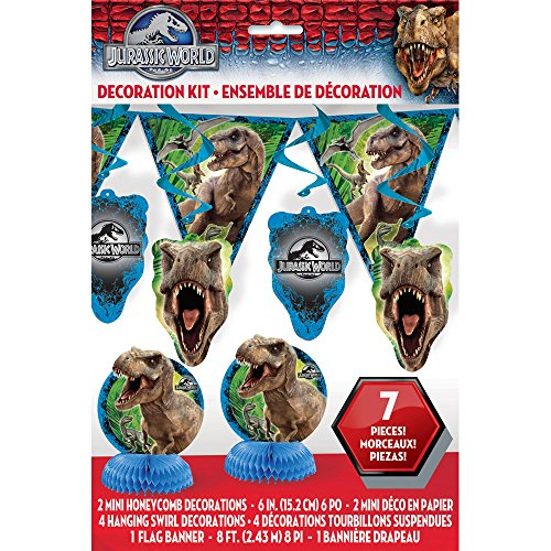 [Jurassic World Party Decorating Kit, 7pc] (L Themed Costumes)