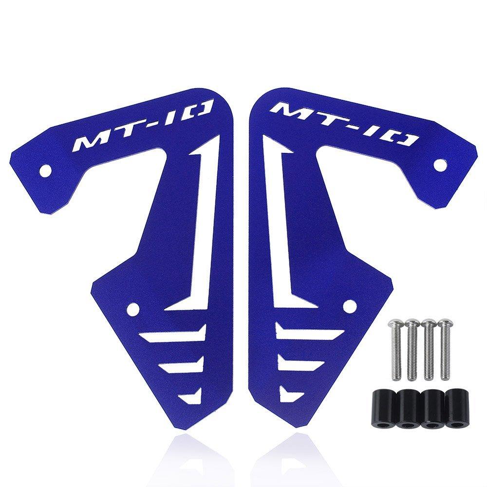XX E-Commerce Radiateur en aluminium de moto plaque laté rale Panneau Coque protection pour 2015– 2016 Yamaha MT FZ 10 MT10 Fz10 15– 16, noir XX eCommerce