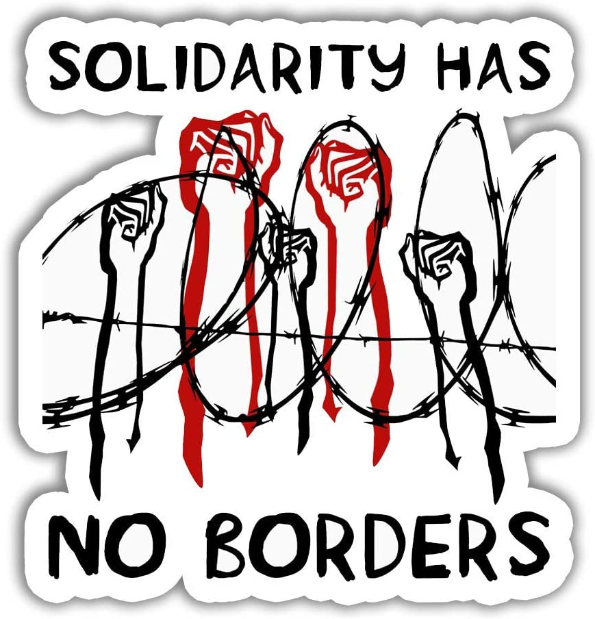 Lplpol 3 PCs - Hate Has No Home Here Solidarity Has No Borders Equality Anti Racist Gift Decal Sticker 4 inches (SK1540)