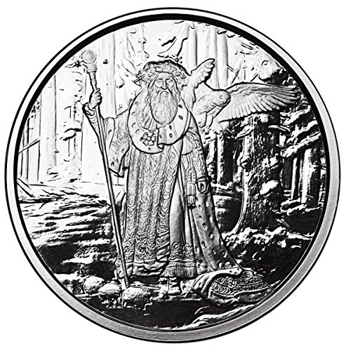 - FICTION ART: CELTIC LORE MERLIN FIRST RELEASE 1 OZ SILVER COIN #COA PROOF ANONYMOUS MINT
