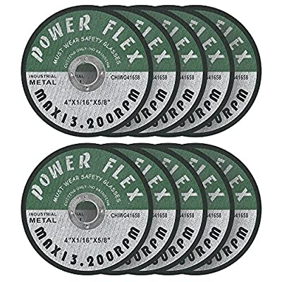 "4 x 1/16 x 5/8"" Pre Cut Off Wheels - 10 pack, for cutting all ferrous Metals And Stainless Steel"