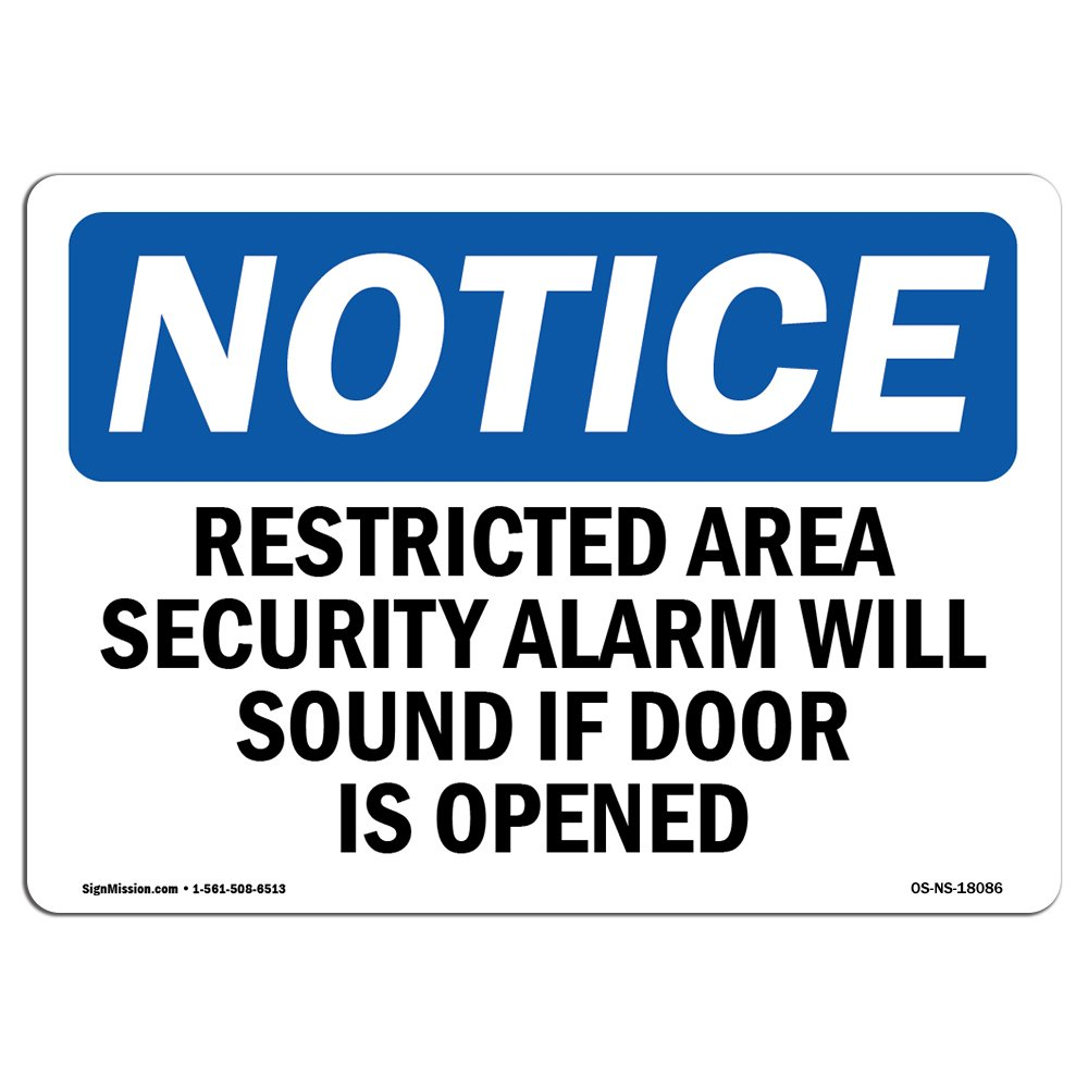 Letrero de seguridad de la marca OSHA con mensaje