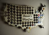 Rustic USA Beer Cap Map with personalization Review