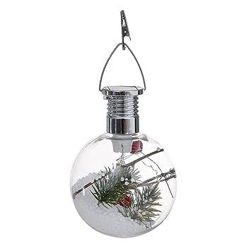 a65202330f9f7 Bolas navideñas de Takefuns Adornos navideños Set Nuevo adorno navideño de  LED Árbol Bola transparente de