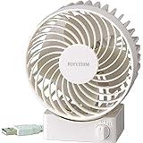 卓上扇風機 USB電源 静音 シルキー・ウィンドS 白 リズム時計 9ZF017RH03