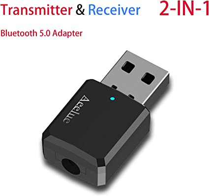 Bluetooth Transmitter Portable Stereo Audio 4.2 Wireless USB Adapter For TV PC