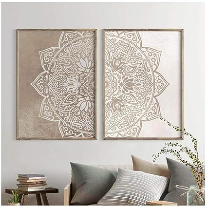 Amazon.com: dayanzai Mandala Wall Art Canvas Painting ...