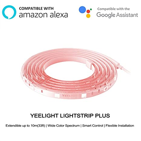 Yeelight Lightstrip Plus,16 Million Colors WiFi RGB Strip for Mi Home APP, Smart