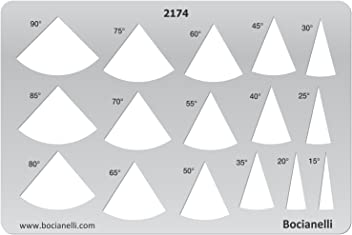 Plastic Stencil Template for Graphical Design Drawing Drafting Jewellery Making - Cone Slice