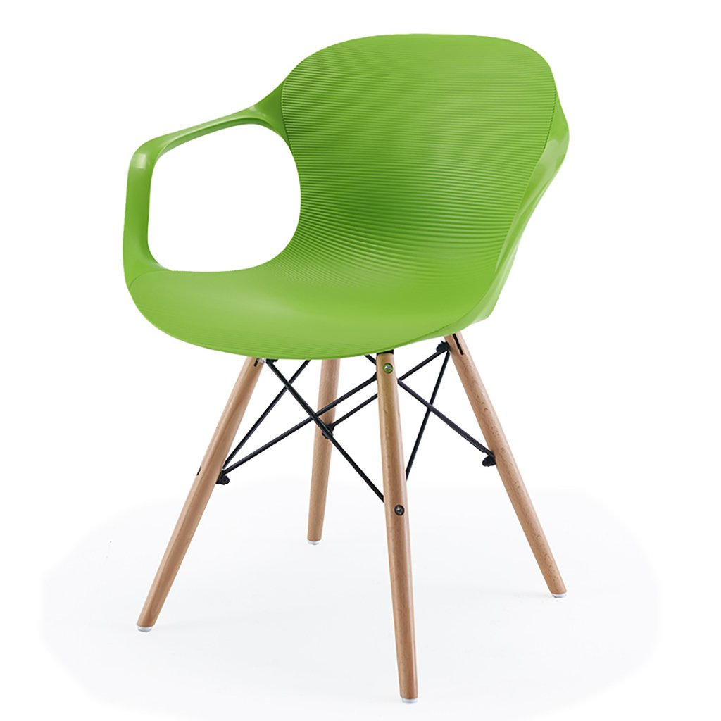 QRFDIAN Massivholzstuhl Freizeitstuhl kreativer Esszimmerstuhl Moderner minimalistischer Massivholzstuhl QRFDIAN Kunststoff-Coffee-Shop-Stuhl Eukalyptusbein Ledersitzstuhl (Farbe   B) 201aa6