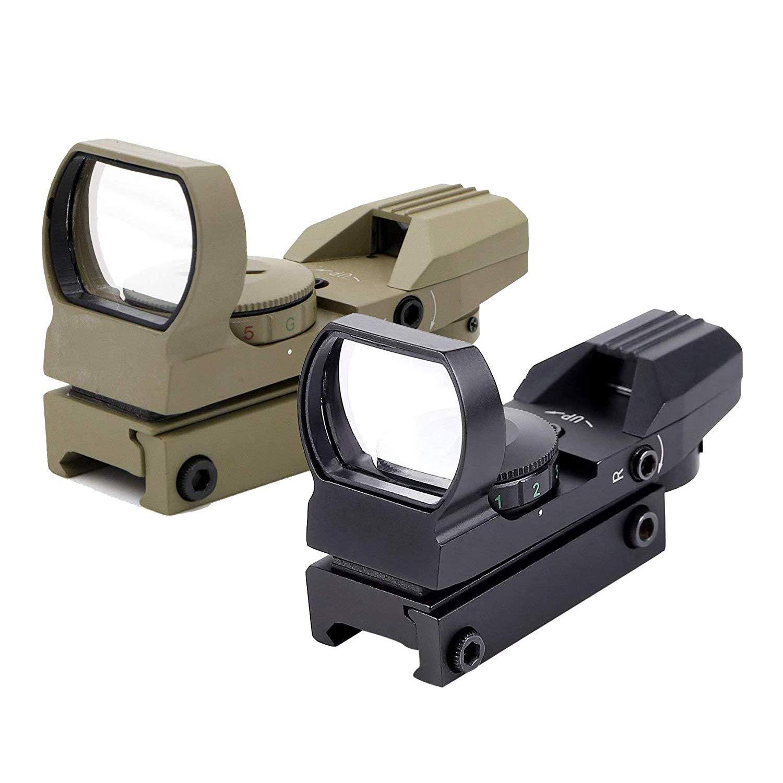 Ohuhu OH-RG-SC-4R Red Green Dot Gun Sight Scope Reflex Sight with 4 Reticles (Sand) by Ohuhu