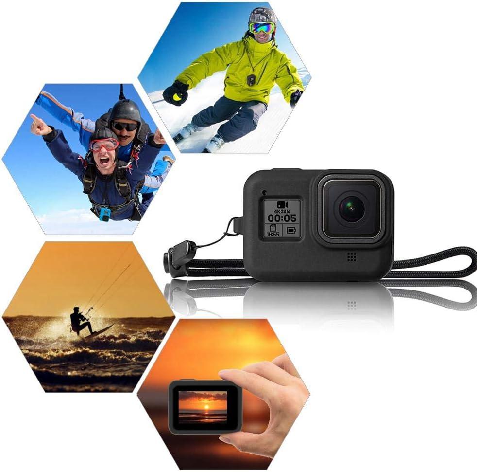 Womdee /Étui de Protection en Silicone pour GoPro Hero 8 Noir