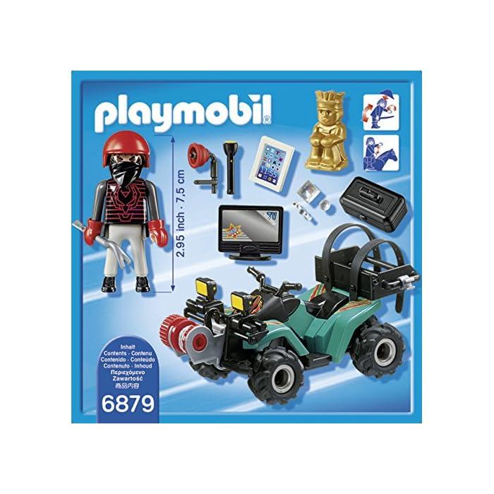 61p9cioeN0L Con motor de fricción Figura de ladrón con guantes Gato y linterna; el quad dispone de una caja para transportar el botín: premio