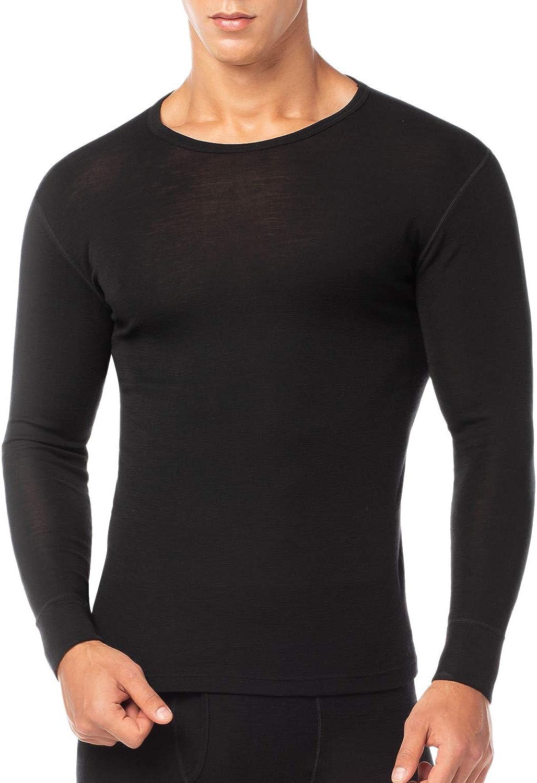 LAPASA Ropa Térmica de Lana Merino Hombre Camiseta/Pantalón/Conjunto Interior Deportivo Baselayer Trekking Montaña M29/M30/M31