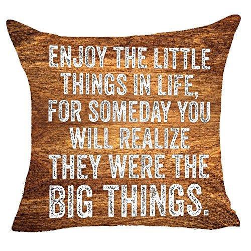 Funda de almohada Penelope Enjoy The Little Things in Life ...