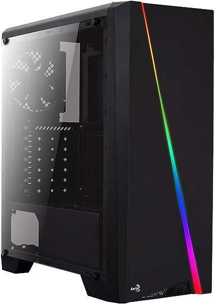 Aerocool CYLON, caja de PC ATX, RGB 13 modos, ventilador trasero ...