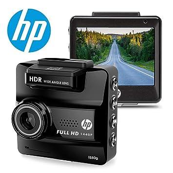 HP Dash CAM para Coches HD 1440P Integrado GPS DVR vehículo salpicadero Grabador de cámara Digital