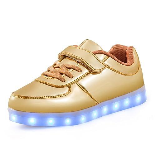 Haut-dessus LED Chaussures Enfants USB Charge LED Lumineux Chaussures de Sports Baskets Chaussures Garçon Fille/Homme Femme epcEvkdD