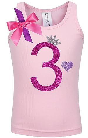 Bubblegum Divas Little Girls 3rd Birthday Pink Princess Shirt 6X
